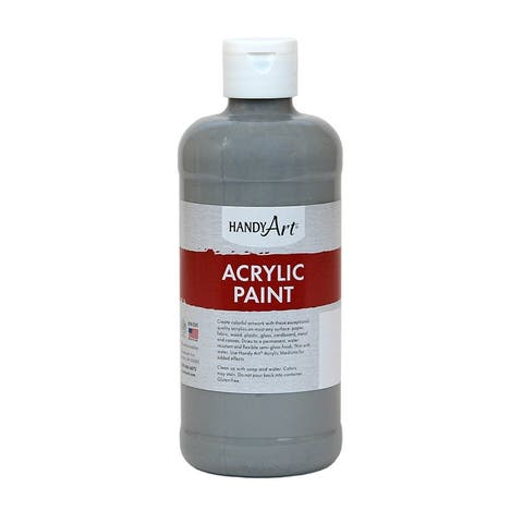 Handy art acrylic paint 16 oz gray 101105