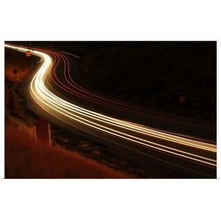 """Traffic light trails, Golden, Colodado"" Poster Print"