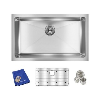"Elkay EFRU2816TC  Crosstown 30-1/2"" Undermount Single Basin Stainless Steel Kitchen Sink with Sound Dampening - Stainless Steel"
