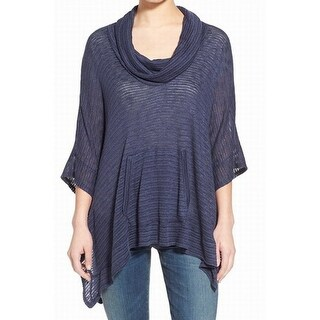 Splendid NEW Blue Women's Size Small S Cowl Neck Poncho Sweater