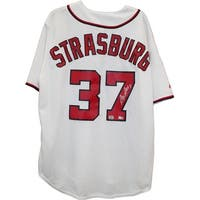 Stephen Strasburg Washington Nationals White Replica Jersey  MLB AUTH