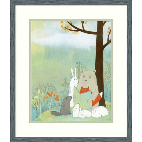 Framed Wall Art Print Storytime on the Mountain 18x21 inch