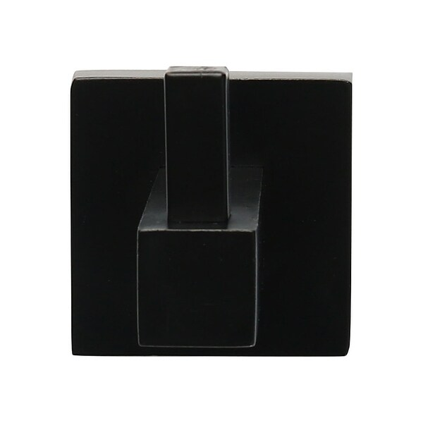 "Stainless Steel Bathroom Wall Mount Towel Rack Hanger Organizer Black Painting - 1.73""x2.76""x2""(L*W*H)"