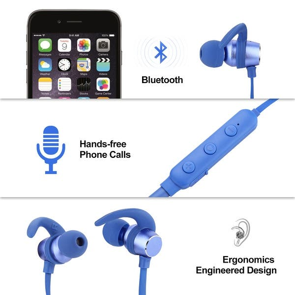Shop Agptek Bluetooth Wireless Headset Stereo Headphone Earphone Sport Handfree Universal For Android Iphone On Sale Overstock 29605986