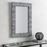 """Agata Mother of Pearl Inlaid Wall Mirror (24 x 36) - 24"""" x 36"""""""