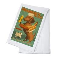 Hawaii - Dachshund - Retro Hotdog Ad - LP Artwork (100% Cotton Towel Absorbent)
