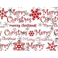"Pack Of 1, 24"" x 417' Merry Christmas Script Gift Wrap Counter Roll For 175 -200 Gifts Made In Usa"
