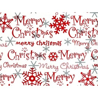 """Pack Of 1, 24"""" x 417' Merry Christmas Script Gift Wrap Counter Roll For 175 -200 Gifts Made In Usa"""