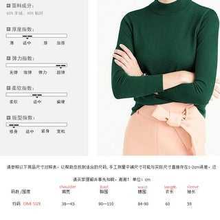 Link to Autumn And Winter Sweater Cashmere Knit Turtleneck Sweater - one size Similar Items in Women's Sweaters