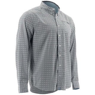 Huk Men's Santiago Navy Medium Button Down Long Sleeve Shirt