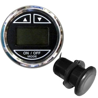 Faria 2 Depth Sounder W Thru Hull Transducer Chesapeake Black Stainless Steel Bezel