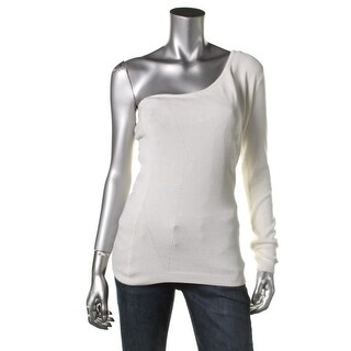Guess Womens One Shoulder Asymmetrical Sweater - M