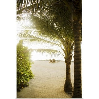 """""""Palm trees on the beach"""" Poster Print"""