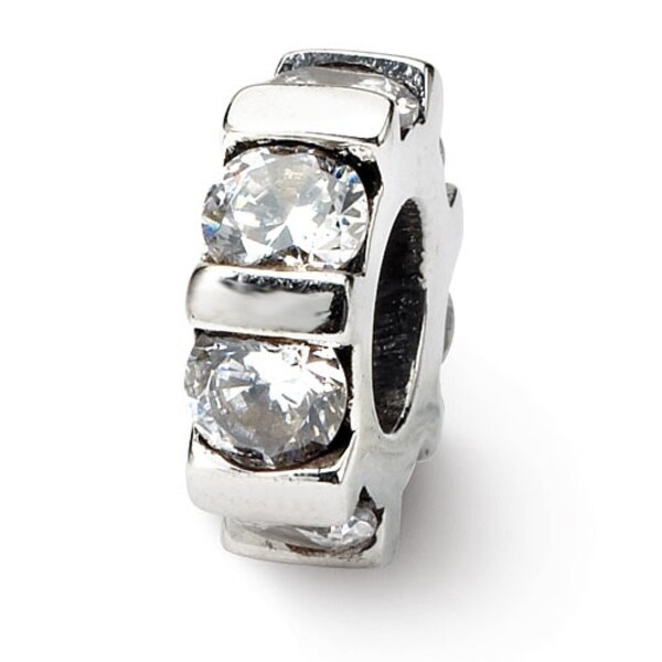 Sterling Silver Reflections CZ Bead (4mm Diameter Hole)
