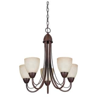 Bronze finish sunset lighting chandeliers for less overstock sunset lighting f2685 tempest 5 light fluorescent energy star and ca title 24 compliant chandelier aloadofball Image collections
