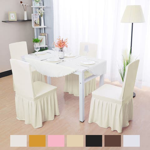 Unique Bargains Stretch Spandex Dining Chair Covers