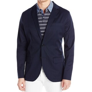 Nautica NEW True Navy Blue Mens Size XL Twill Two Button Blazer