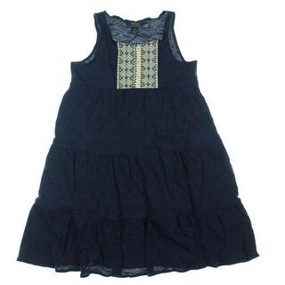 Ralph Lauren Girls Knit Patchwork Casual Dress - L