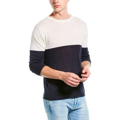 Onia Kevin Linen-Blend Crewneck Sweater