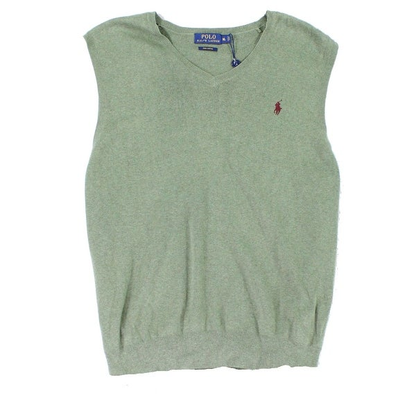 Polo Ralph Lauren NEW Green Mens Size XL Custom Fit Sweater Vest