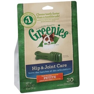Greenies Hip & Joint Care Canine Dental Chews Petite 18oz