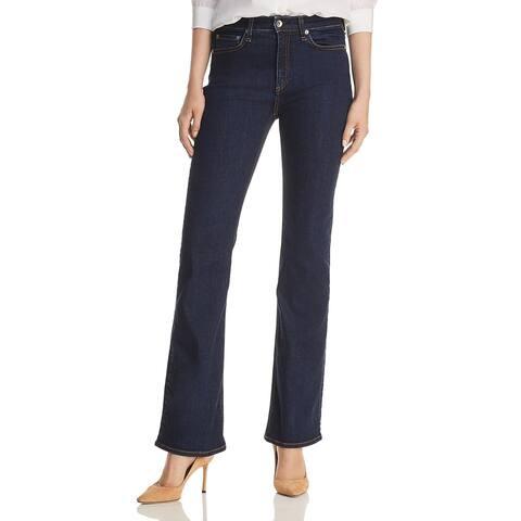 Rag & Bone Womens Nina Boot Cut Jeans Denim Wide Leg - Marine Blue - 24