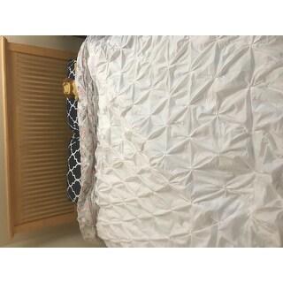 Pintuck Handcrafted Duvet Cover Set