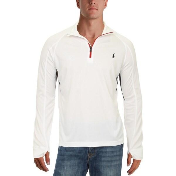 Shop Polo Ralph Lauren Mens 1/4 Zip Jacket Perforated