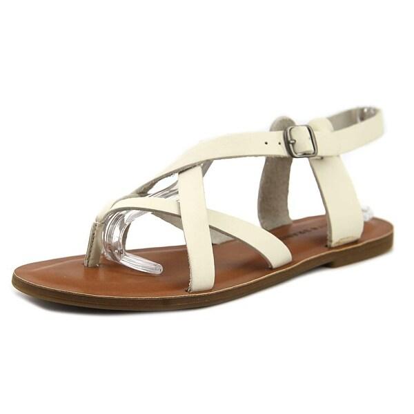 Lucky Brand Adinis Women Open-Toe Leather Ivory Slingback Sandal