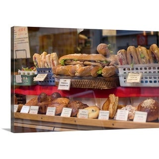 """Bakery in Paris, France"" Canvas Wall Art"
