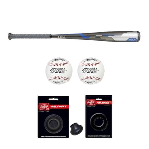 """Rawlings 2018 Velo Hybrid Youth Baseball Bat (31""""/21 oz) with Accessory Bundle"""
