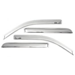 Auto Ventshade 684166 Chrome Vent Visor (4 pc)