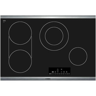 Bosch NET8066 30 Inch Electric Cooktop with PreciseSelect Temperature Selection from the 800 Series