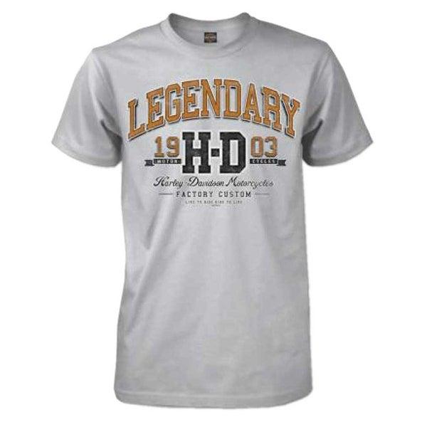 1f99045e3cdd9 Shop Harley-Davidson Men s University Premium Short Sleeve Crew T-Shirt