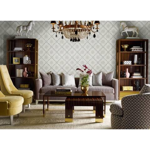 Seabrook Designs Lillian August Plumosa Tile Unpasted Wallpaper