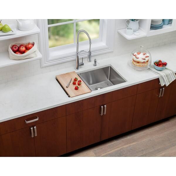 Elkay LKCBF17HW Single Basin Hardwood Cutting Board Designed to Fit all  Crosstown Kitchen Sinks - Wood