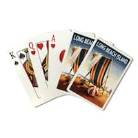 Long Beach Island Beach Chair & Ball - LP Artwork (Poker Playing Cards Deck)