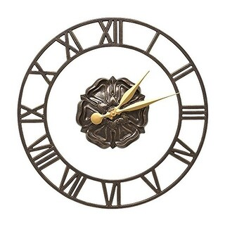 Whitehall Rosette Floating Ring 21″ Wall Clock (French Bronze) - Bronze
