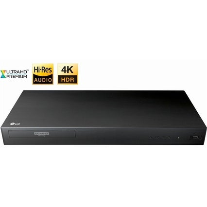 LG UP875 4K Ultra HD 3D Blu-ray Player with Remote Control, HDR  Compatibility, Upconvert DVDs, Ethernet, HDMI, USB Port