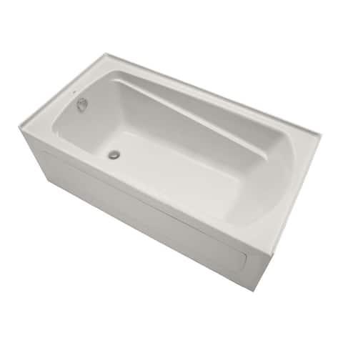 "Mirabelle MIRBDS6032L Bradenton 60"" X 32"" Three-Wall Alcove Soaking Tub with Left Hand Drain"