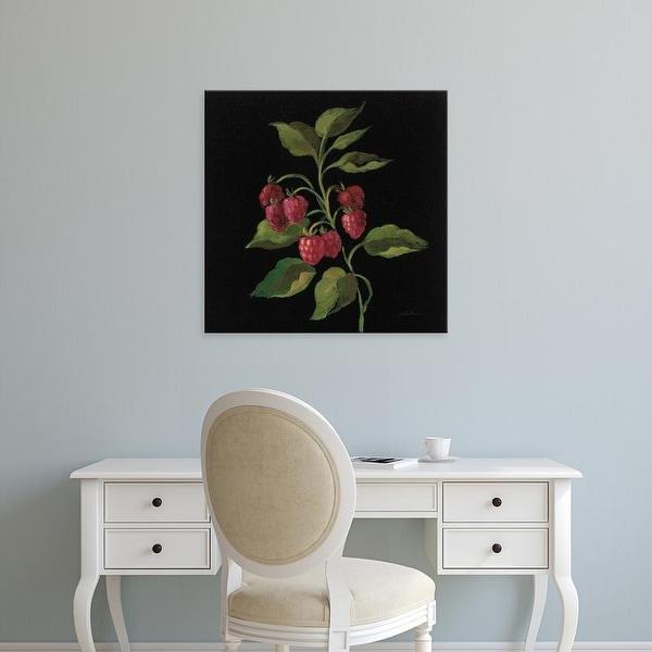 Easy Art Prints Silvia Vassileva's 'Framboise no Words' Premium Canvas Art