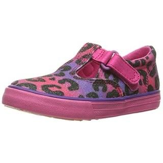 Keds Girls Daphne T-Strap Shoes Animal Print Leopard Print