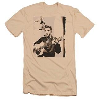 Elvis Sepia Studio Mens Premium Slim Fit Shirt