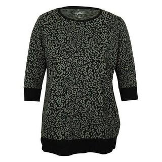 Style & Co Women's Animal Print Sweatshirt