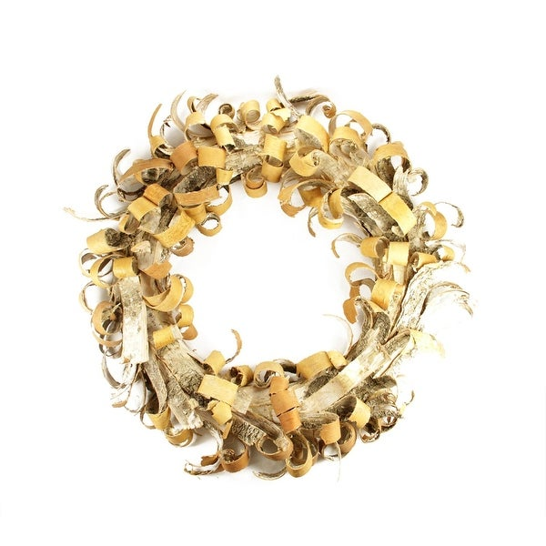 "24"" Rustic Earth Tone Tree Bark Inspired Christmas Wreath"