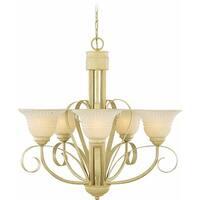 Volume Lighting V3326 Florentia 5 Light 1 Tier Chandelier