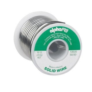Alpha 13505 Non Electrical Solid Wire Solder, 16 Oz