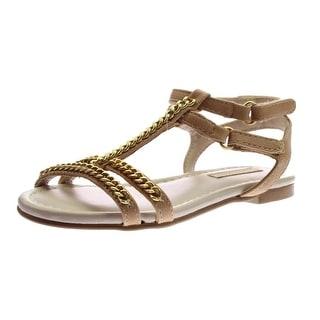 Zara Toddler Girls Faux Leather Sandals - 7.5 medium (b,m)