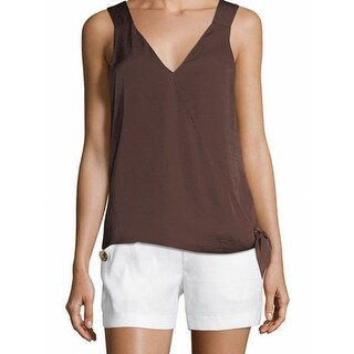Laundry by Shelli Segal NEW Brown Women's Size 8 Tank Cami Wrap Top