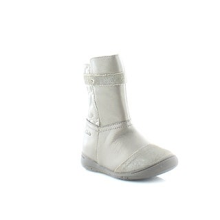 Clarks Ritzy Kiss FST Toddler Girls Boots Pewter - 4.5